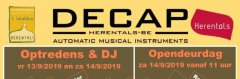 Saturday 14 September 2019: open day at Decap Herentals
